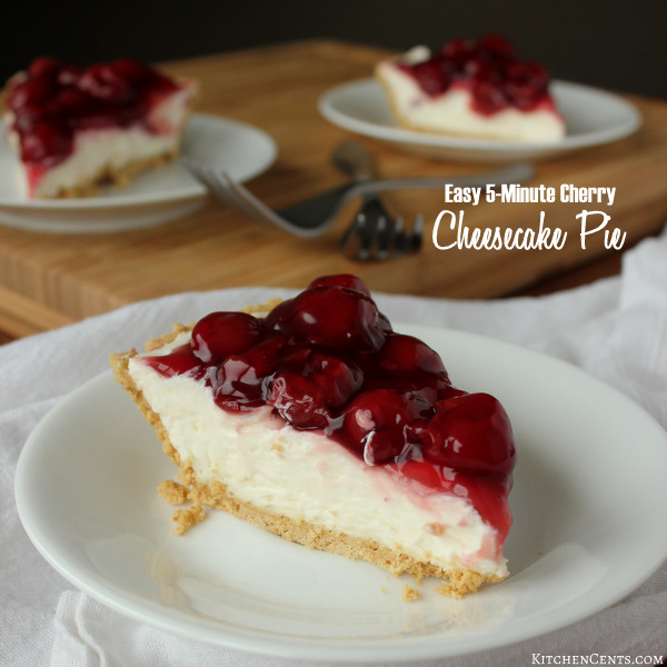 5-Minute Cherry Cheesecake | Kitchen Cents