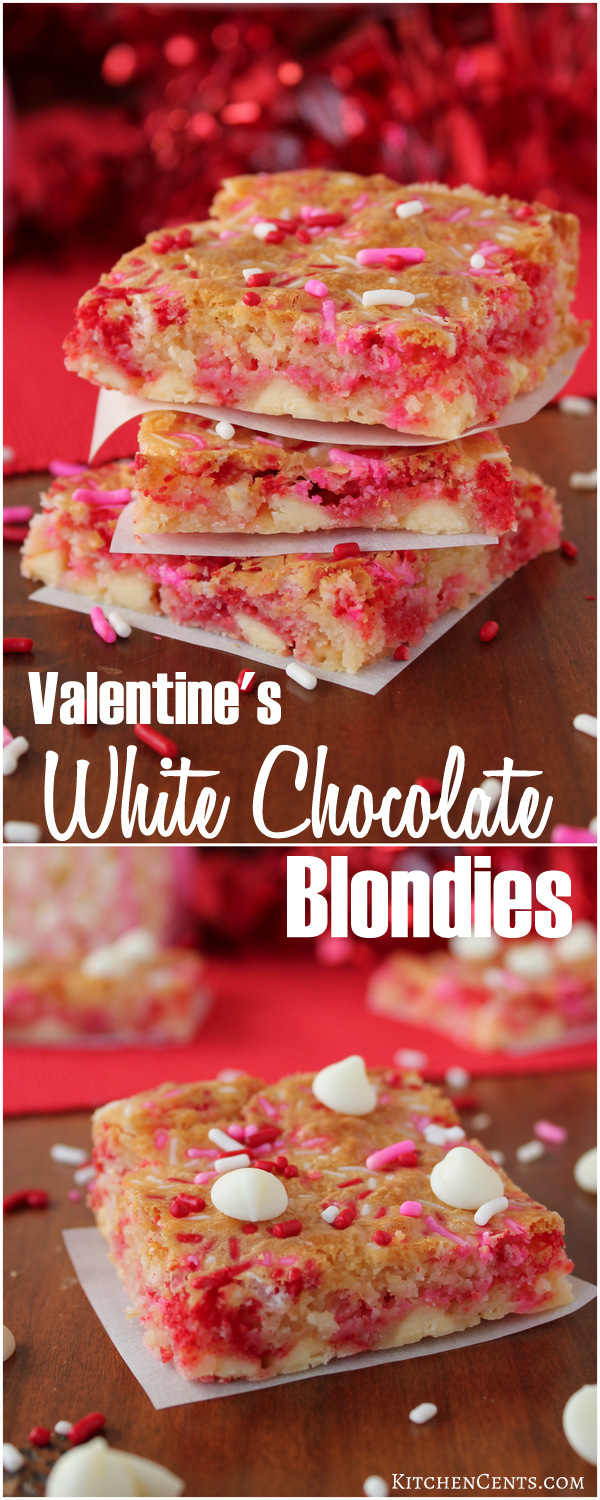 White Chocolate Blondies | Kitchen Cents
