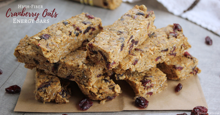So Good! High-Fiber Cranberry Oat Energy | Kitchen Cents