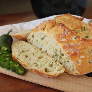 No-Knead Jalapeno Artisan Bread