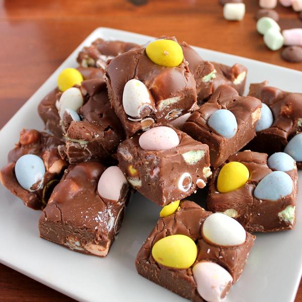 Easy, Quick 4-Ingredient Easter Fudge   Kitchen Cents