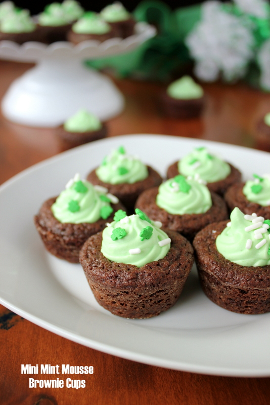 Shamrock Andes Mint Mousse Brownie Bites | Kitchen Cents
