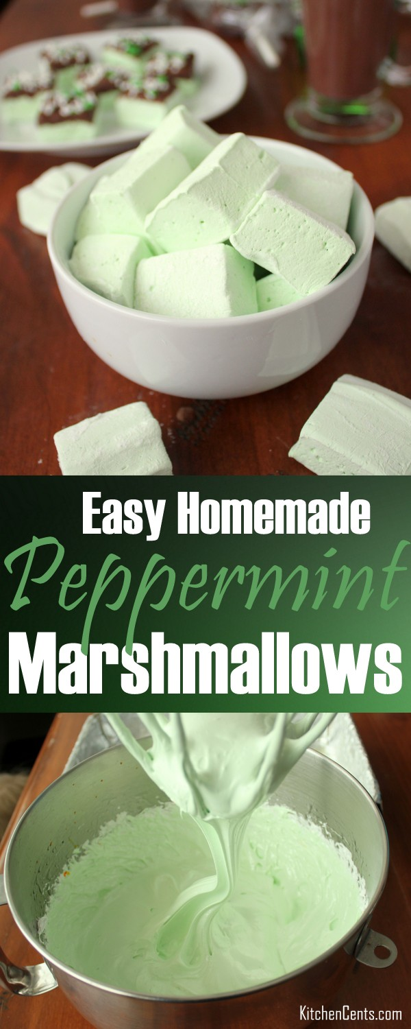 Easy Homemade Peppermint Marshmallows | Kitchen Cents