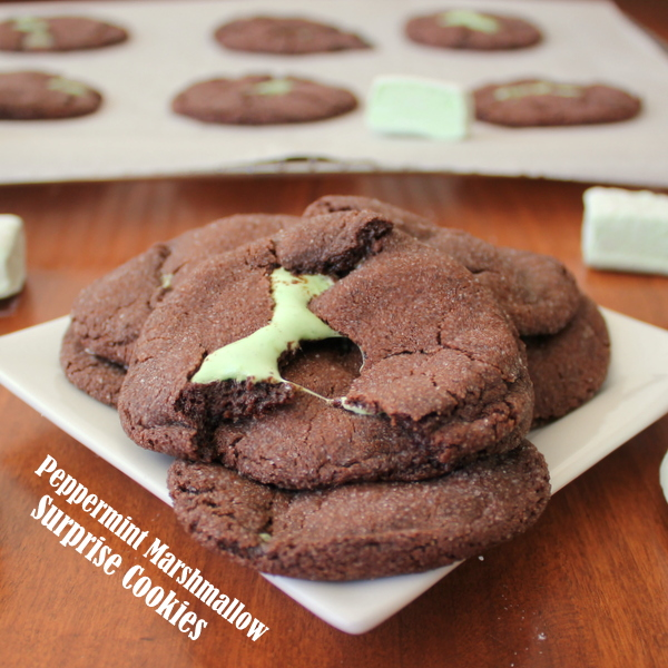Soft, Chewy Mint Marshmallow Chocolate Cookies | Kitchen Cents