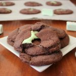 Mint Marshmallow Chocolate Cookies