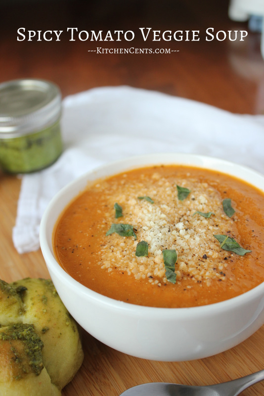 Easy Spicy Tomato Soup | Kitchen Cents