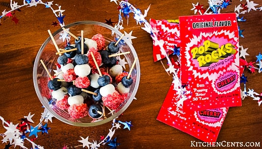 Delicious healthy red, white and blue dipped blueberries | Kitchen Cents