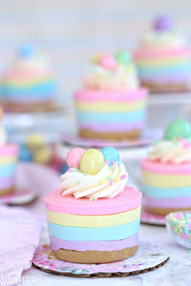 Easter No-Bake Mini Cheesecakes | 17+ No-Bake Cheesecake Recipes