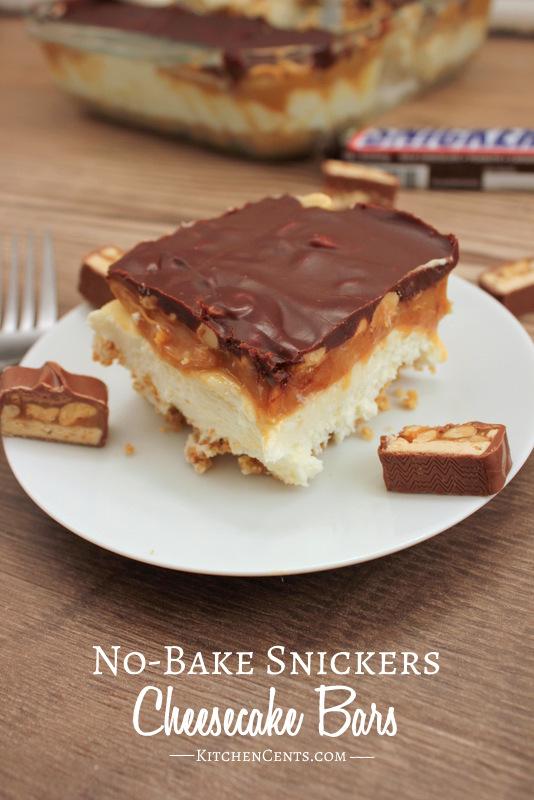 No-Bake Snickers Cheesecake | 17+ No-Bake Cheesecake Recipes