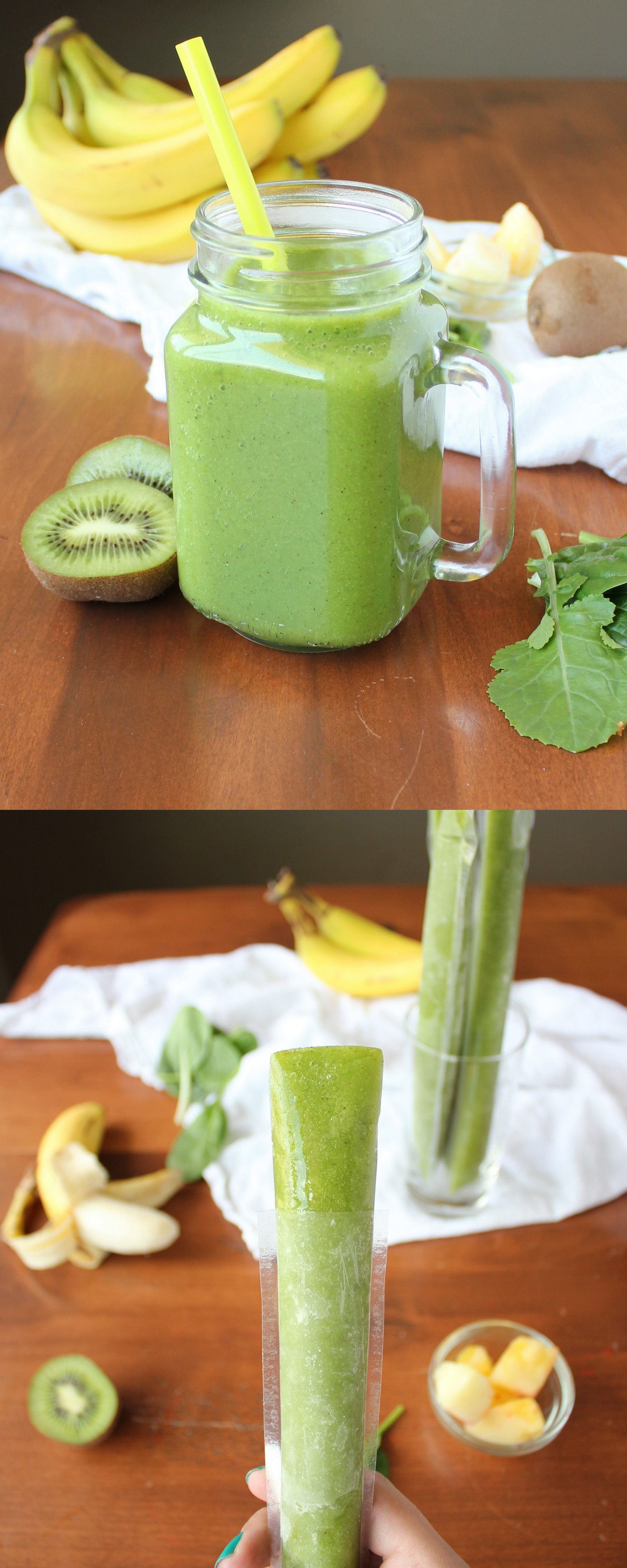 Healthy Kid-Friendly Green Smoothie Otter Pops | KitchenCents.com