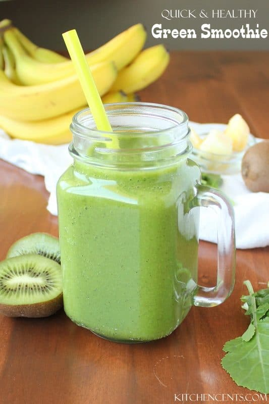 Healthy Green Smoothie | Kitchen Cent 25+ Christmas Morning Breakfast Idea
