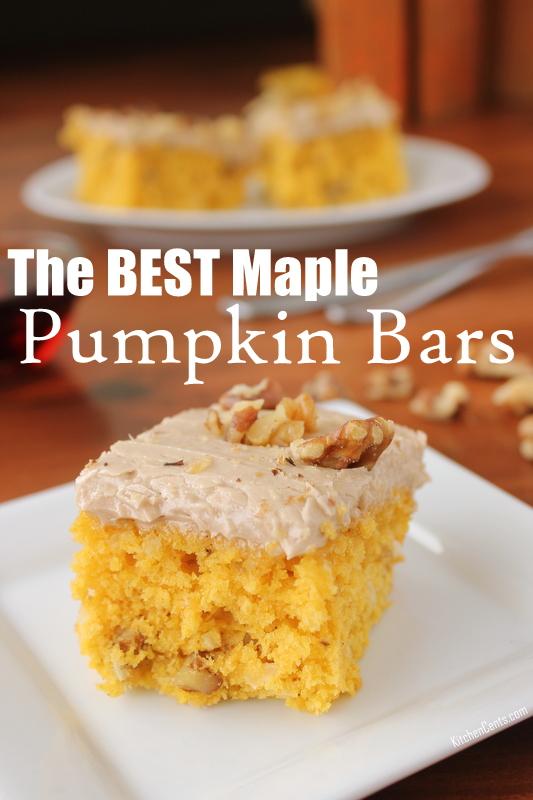 The BEST Nutty Maple Pumpkin Bars | Kitchen Cents