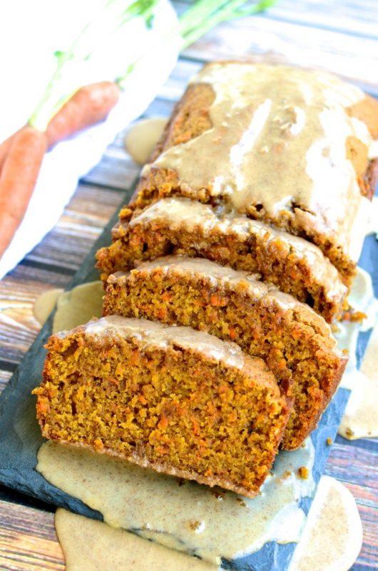 Carrot Pumpkin Bread with Cider Glaze | 21+ Pumpkin Desserts