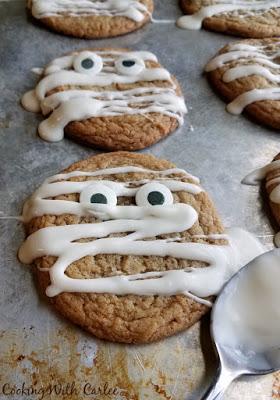 Maple Mummy Cookies | 25+ Halloween Treats Kids will Love