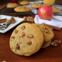 Walnut Applesauce Cookies