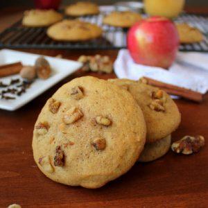 Amazingly Soft Walnut Applesauce Cookies | Kitchen Cents