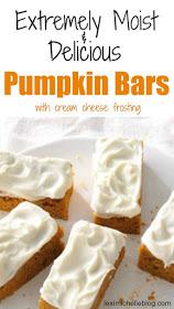 Pumpkin Bars | 21+ Pumpkin Desserts