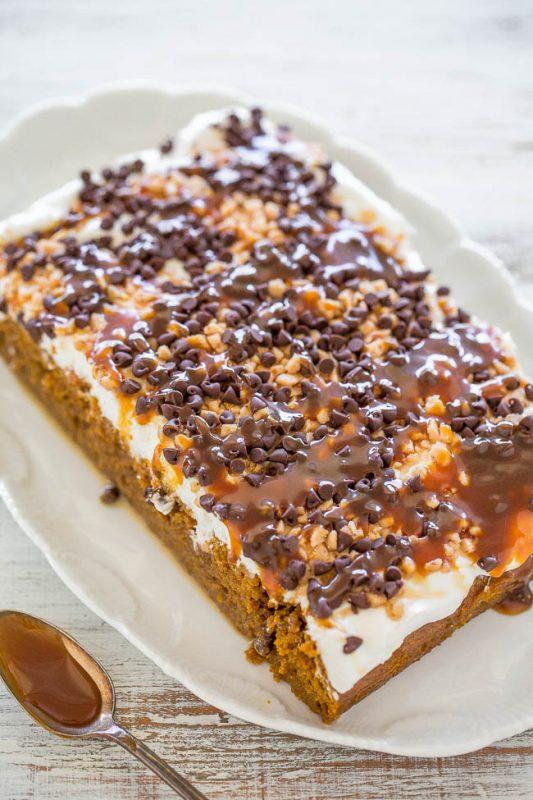 Pumpkin Caramel Poke Cake | 21+ Pumpkin Desserts