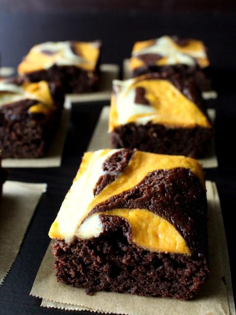 Pumpkin Cheesecake Swirled Brownies | 21+ Pumpkin Desserts