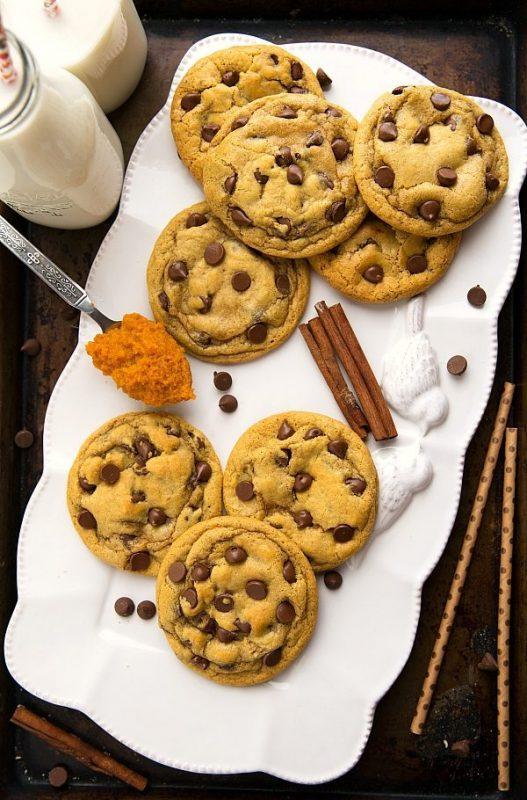 Pumpkin Chocolate Chip Cookies | 21+ Pumpkin Desserts