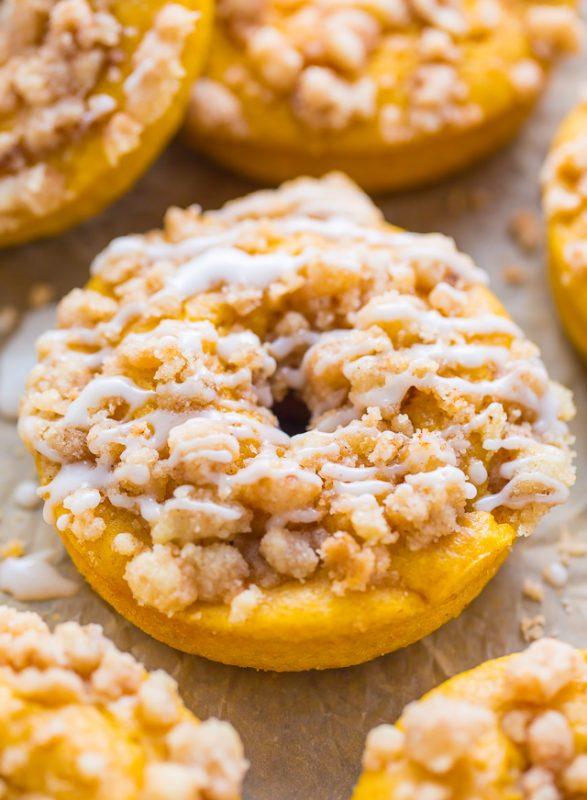 Pumpkin Coffee Cake Donuts | 21+ Pumpkin Desserts