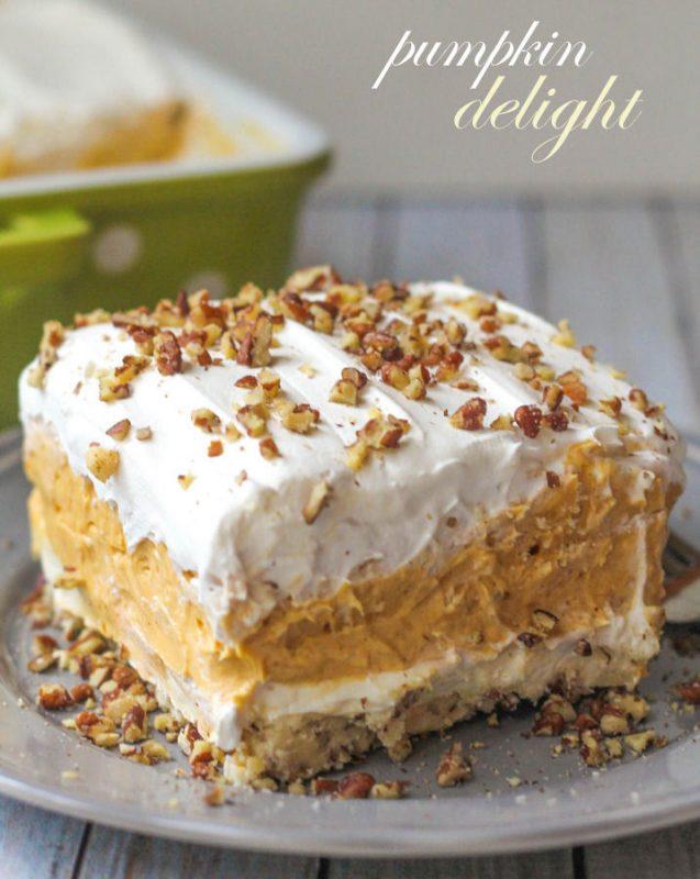 Pumpkin Delight Dessert | 21+ Pumpkin Desserts