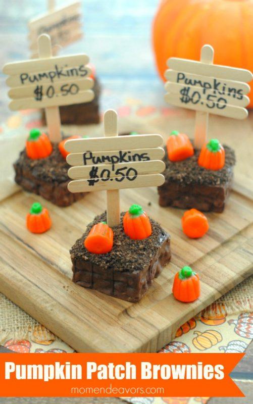 Pumpkin Patch Brownies | 25+ Halloween Treats Kids will Love