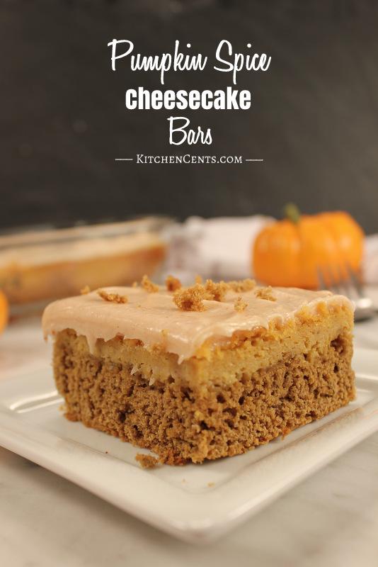 pumpkin-spice-cheesecake-bars | 21+ Pumpkin Desserts