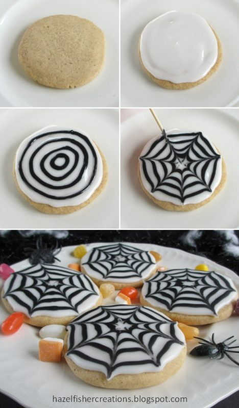 Spider Web Sugar Cookies | 25+ Halloween Treats Kids will Love