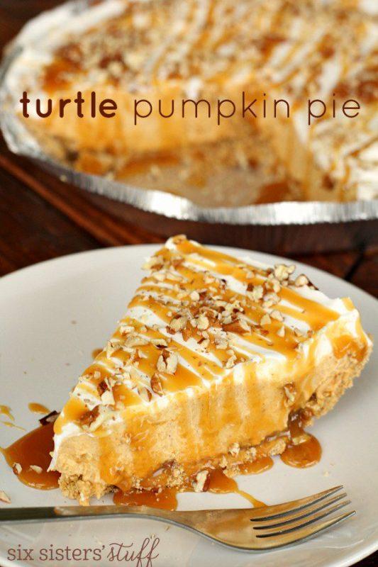 Turtle Pumpkin Pie | 21+ Pumpkin Desserts
