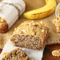 Healthy Banana Nut Bread (dairy-free, no sugar added, low-carb)