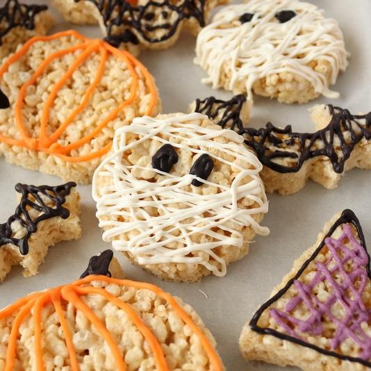 Easy Halloween Rice Krispie Treats