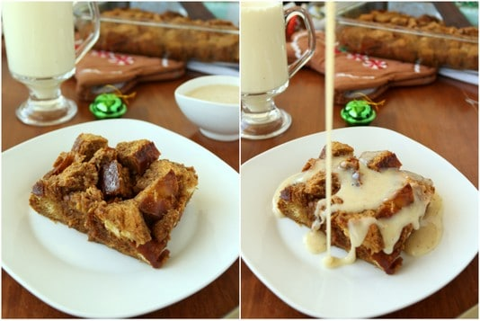 Eggnog sauce for gingerbread french toast bake | Kitchen Cents