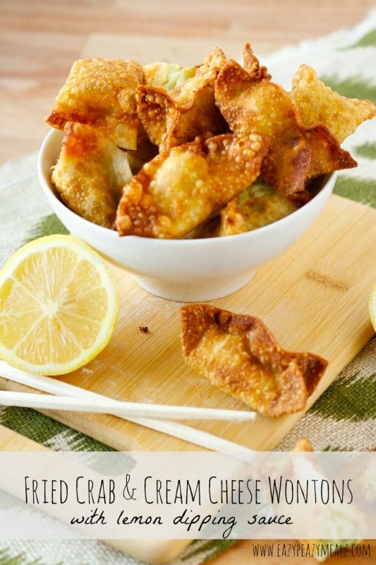 Fried Crab Cream Cheese Wontons | 21+ Easy Appetizers