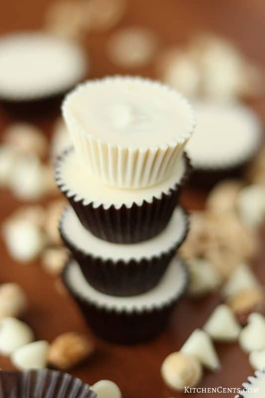 Super easy Reese's Copycat White Chocolate peanut butter cups | Kitchen Cents