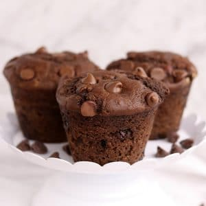Easy Breakfast Double Chocolate Muffins | Kitchen Cents