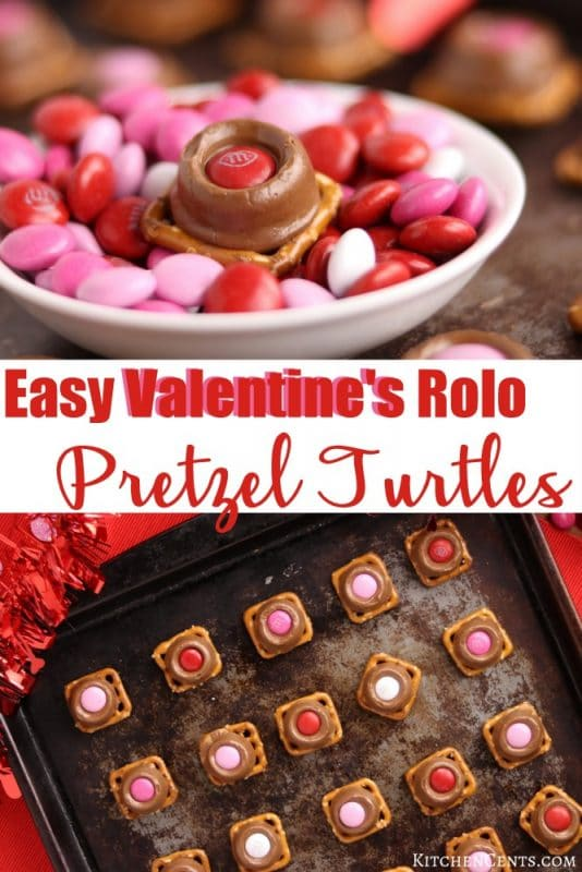 Easy Valentine's Pretzel Turtles | Kitchen Cents