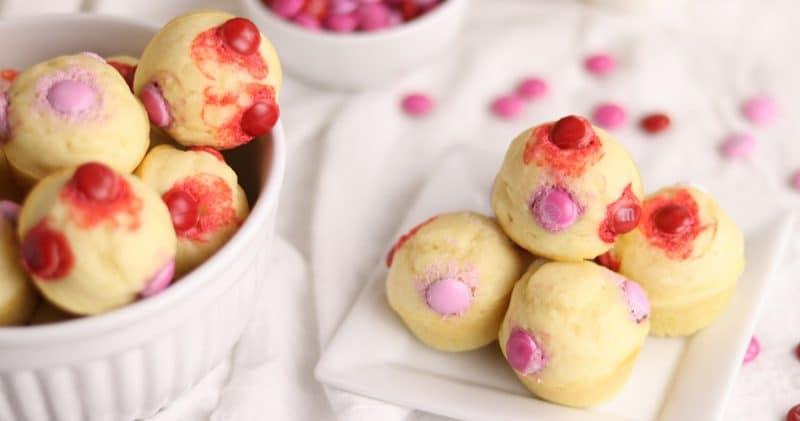 15-Minute Valentine's Buttermilk Pancake Bites | Kitchen Cents