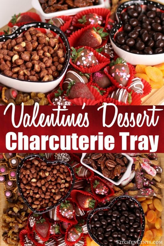 Easy Valentine's Dessert Charcuterie Tray | Kitchen Cents