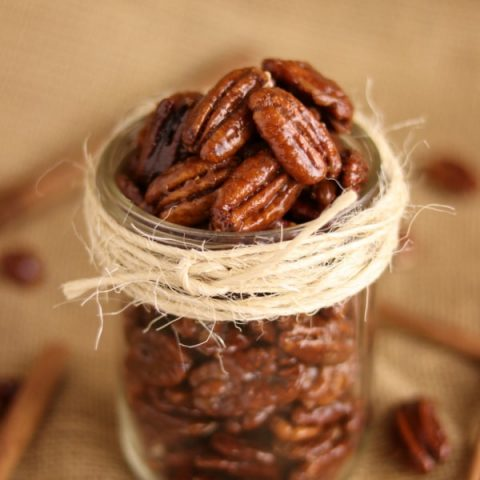 Easy Oven Roasted Honey Cinnamon Glazed Pecans | Kitchen Cents