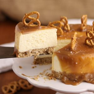 EASY Instant Pot Salted Caramel Cheesecake | Kitchen Cents