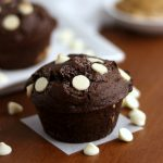 Easy Chocolate White Chocolate Chip Muffins with Peanut Butter | Kitchen Cents