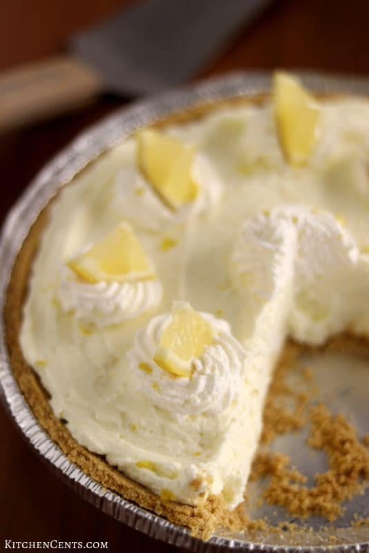 Easy Lemon Cream Pie | Kitchen Cents