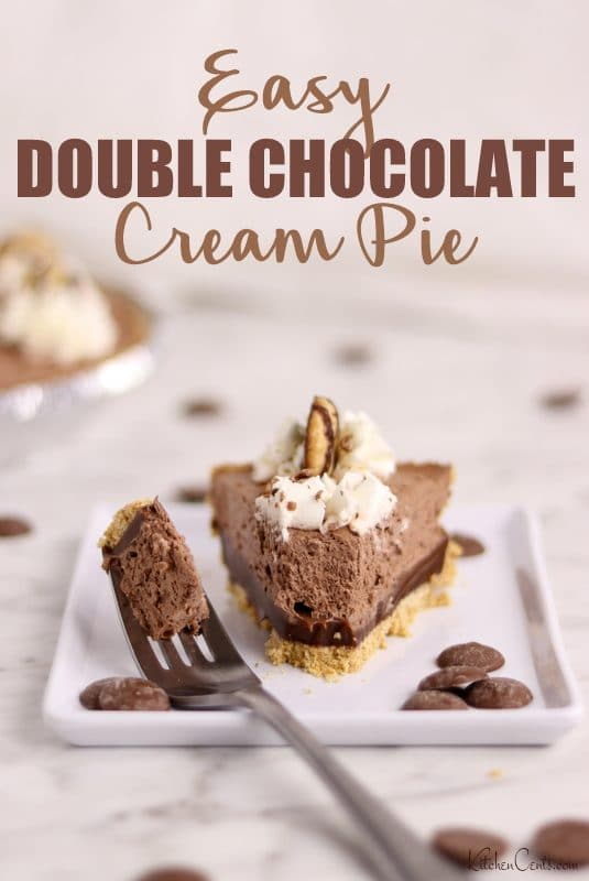 Easy 5-Ingredient Double Chocolate Cream Pie | Kitchen Cents