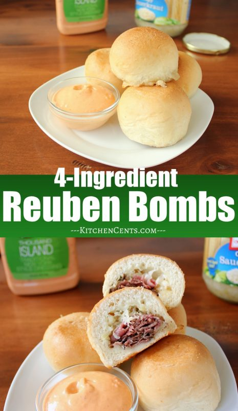 Easy 4-Ingredient Reuben Bombs | Kitchen Cents