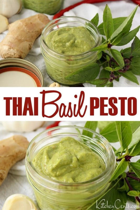 Easy Blender Thai Basil Pesto | Kitchen Cents
