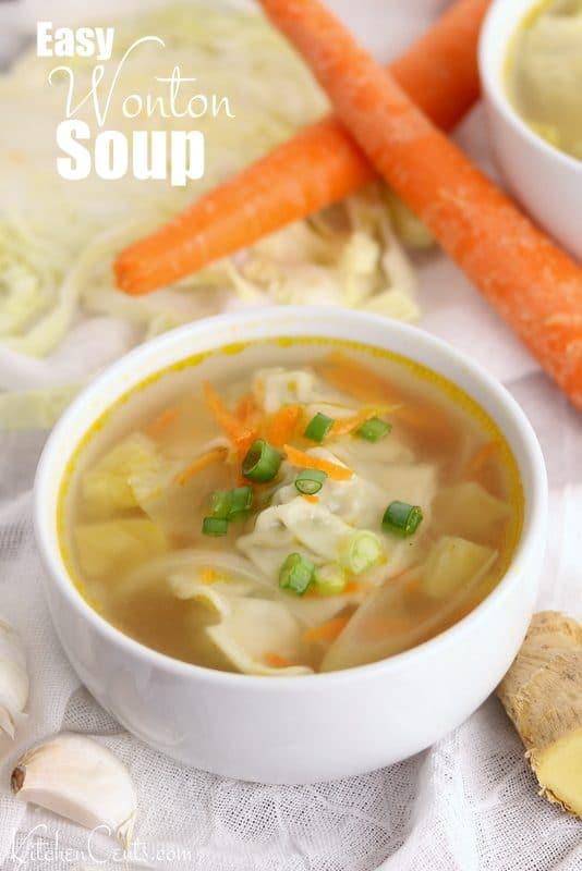 Easy 20-Minute Wonton Soup | Kitchen Cents