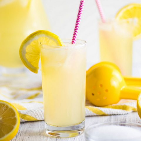 Easy 3-Ingredient Freshly Squeezed Lemonade with sugar recipe | Kitchen Cents