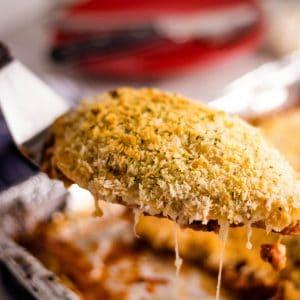 Easy Freezer Friendly Baked Chicken Parmesan recipe | Kitchen Cents