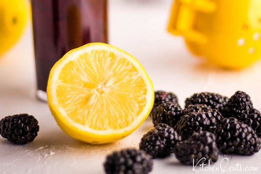 Easy Homemade Blackberry Lemonade Recipe with 4 ingredients | Kitchen Cents